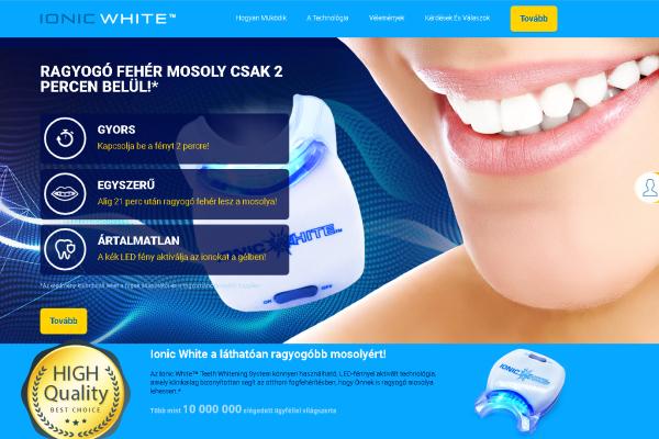 Ionic White [COD] - Teeth Whitening System - CPA [HU] Affpub